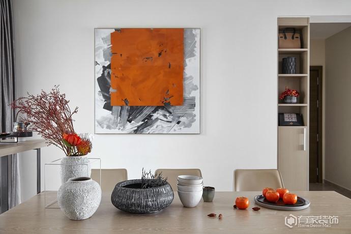 一半靜謐一半絢爛的現代簡約風格家居