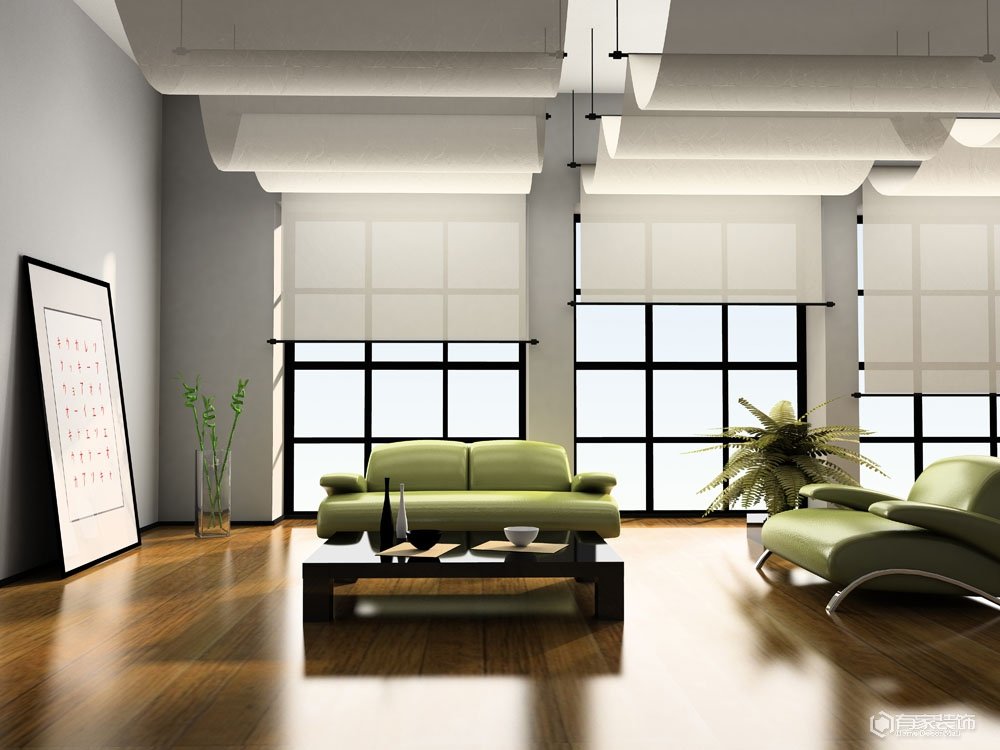 福州装修公司:长方形客厅的装修布局讲求方法