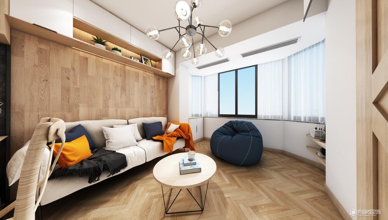 西雅圖榮邦城六期31平一居室北歐風格裝修效果圖