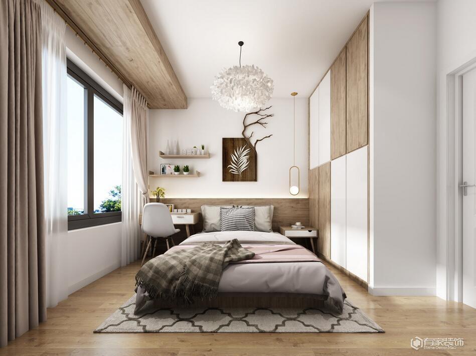 綠都瀾灣五期樾園89平三居室美式風格裝修效果圖