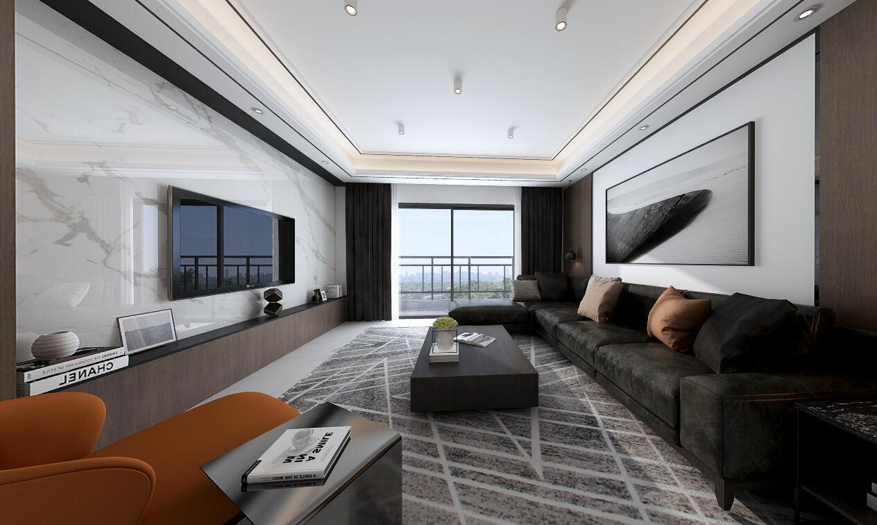 象湖一号120平三居室现代风格装修效果图