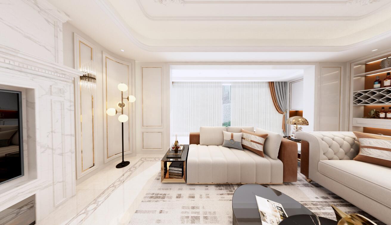 福州福清富贵世家平层装修 诠释古典浪漫的法式风