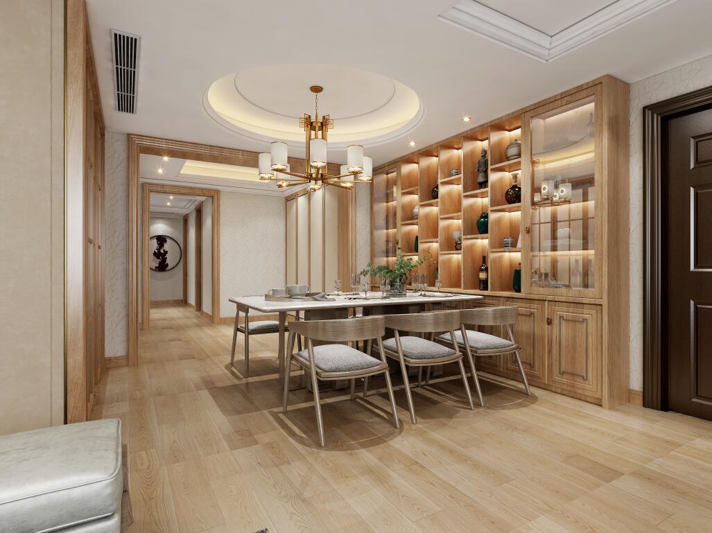 永威森林花語140平多居室新中式風格裝修效果圖