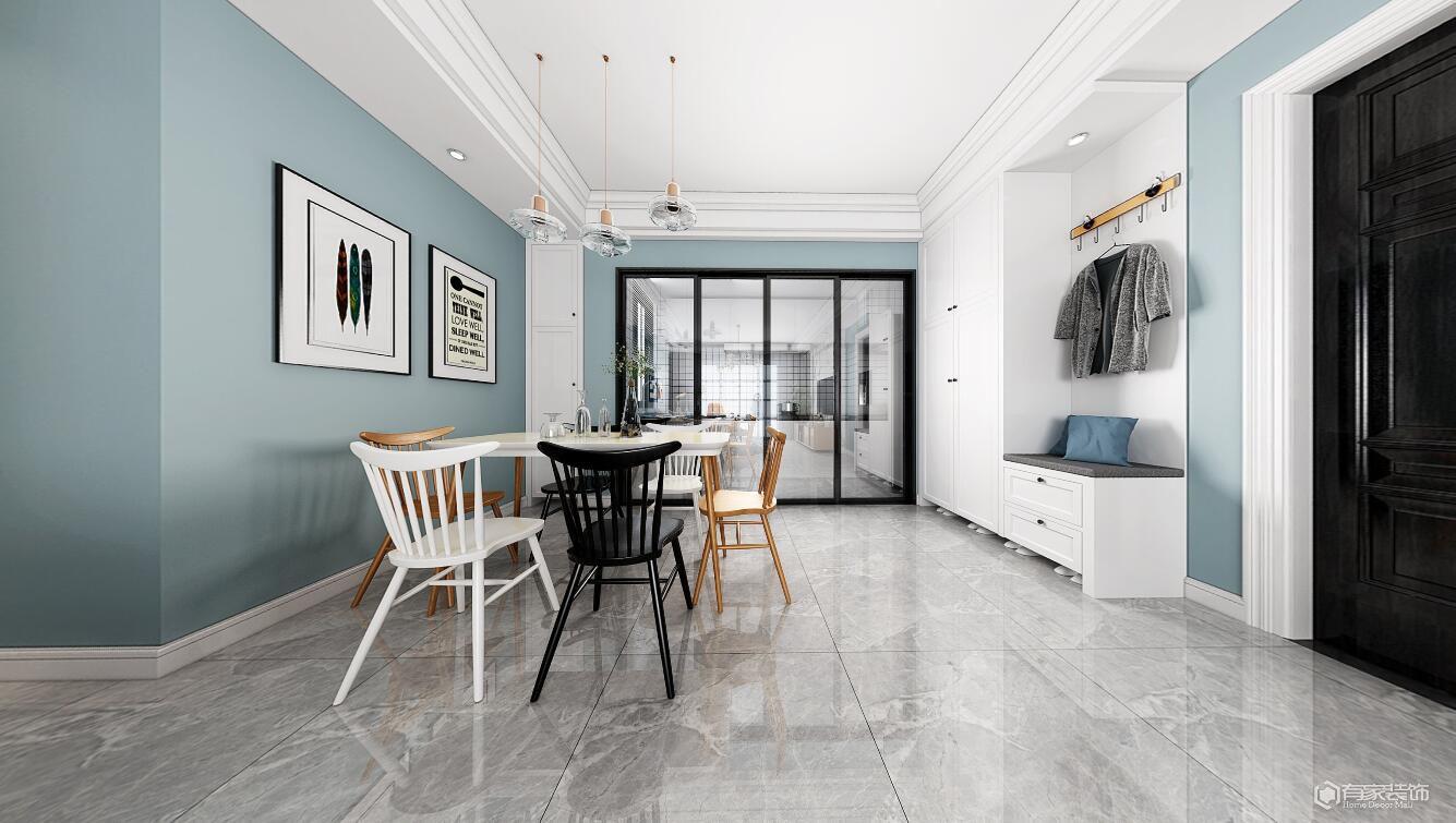 正商兰庭华府85平三居室轻奢风格装修效果图