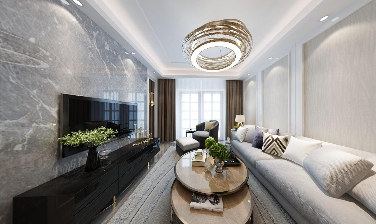 139号院120平三居室欧式风格装修效果图