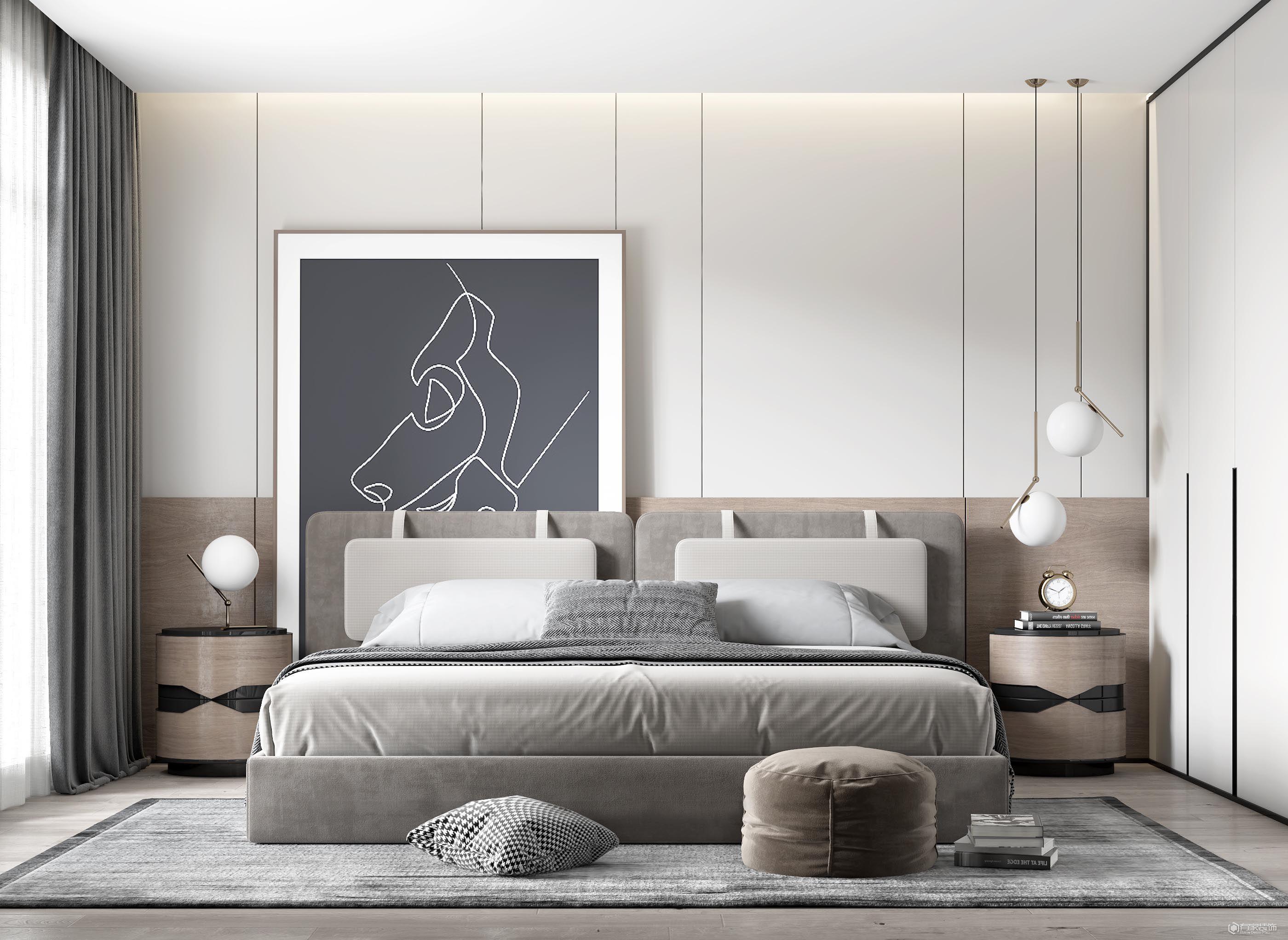 永威城160平多居室现代风格装修效果图