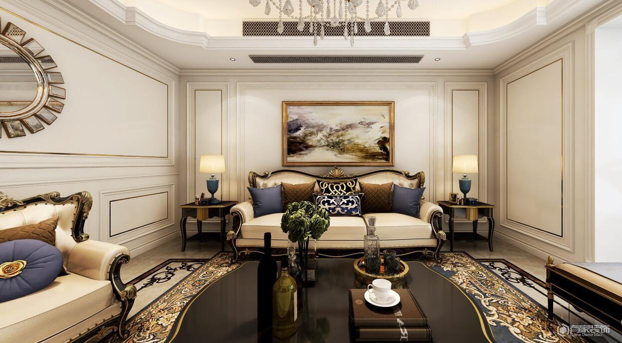 汇泉西悦城三期153平多居室欧式风格装修效果图