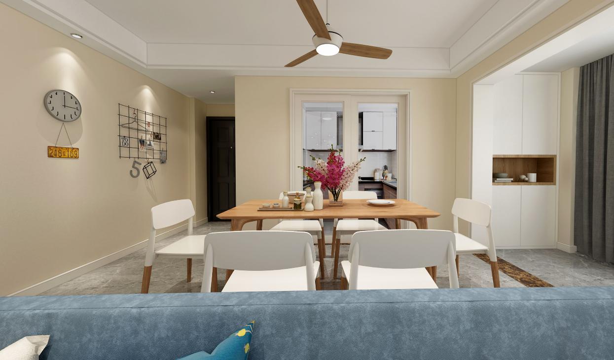 龙之梦103平一居室美式风格装修效果图