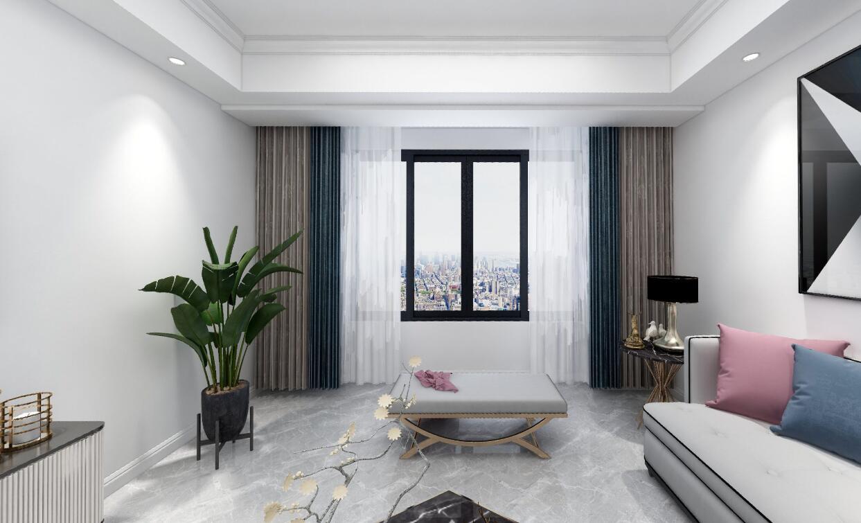汇泉西悦城7期99平三居室现代风格装修效果图