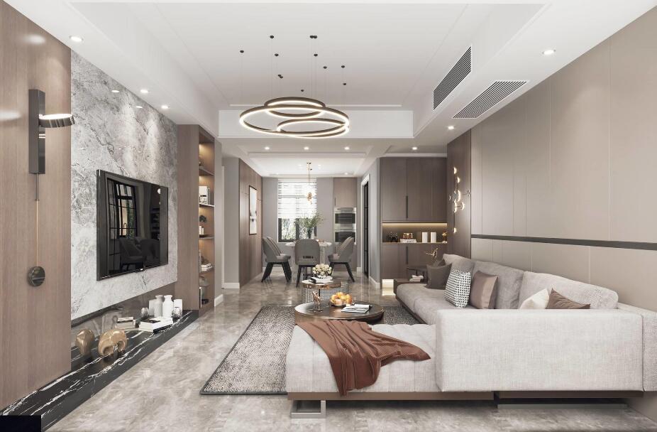 融創華夏觀瀾一號120平三居室其他風格裝修效果圖