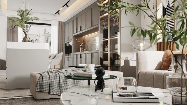 融匯融信九里芳華輕奢別墅裝   充分滿足了業主的個性需求