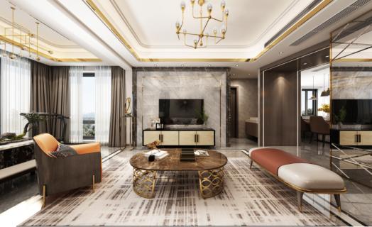 理想城揽香 145㎡ 现代轻奢空间