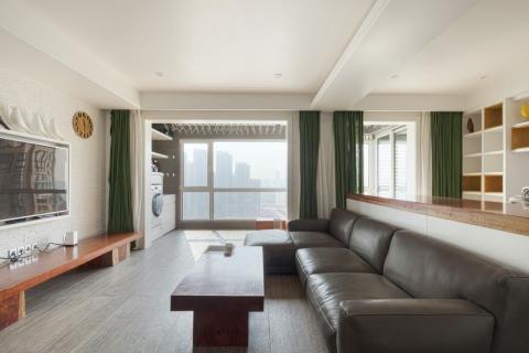 万科·金域国际SOHO家装案例  现代设计风格回归自然