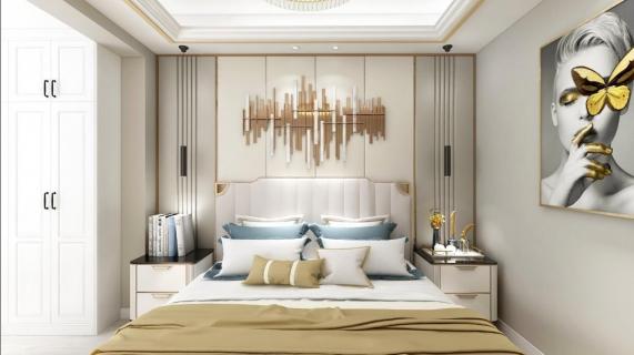 中庚香山新时代现代轻奢风格  整体空间暖色调为主。