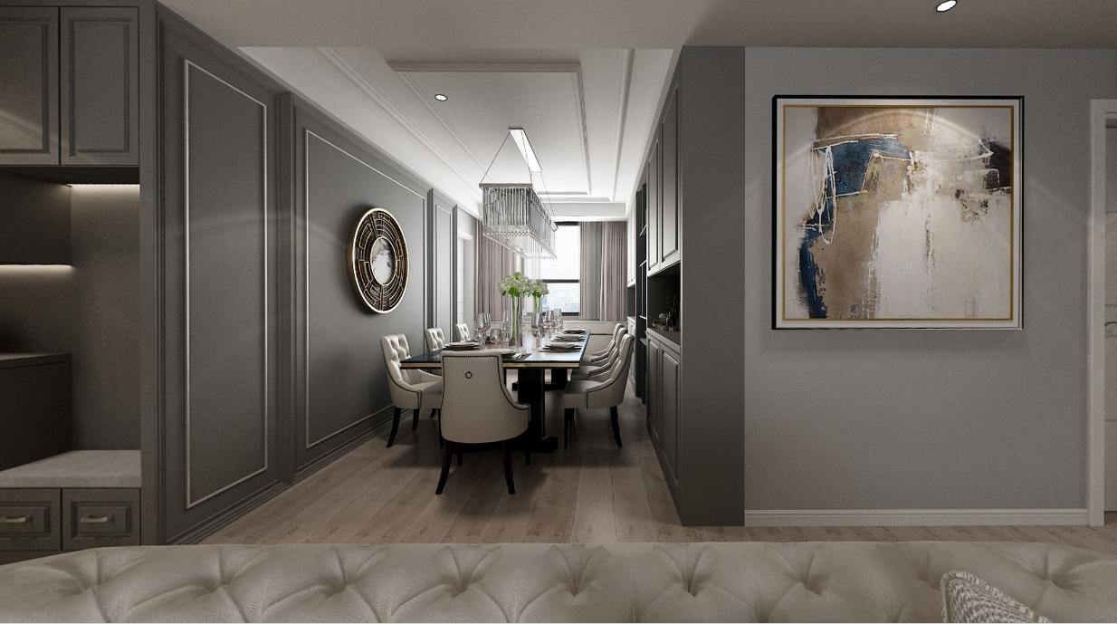 建發央著四居室裝修  美式風格超有質感