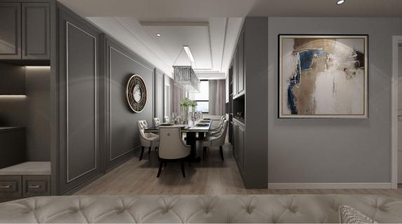 建发央著四居室装修  美式风格超有质感