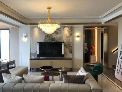 融信双杭城三居室装修 家里的镜子是权志龙同款